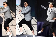 Psy Performs his 'Horse-Riding' Dance During Press Conference