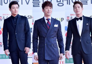 Kang Ha Neul, Shim Hyung Tak and Hong Jong Hyun at Cable TV Broadcast Awards Red Carpet