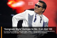 'Gangnam Style' #2 on Billboard Hot 100 Chart