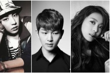 Chanyeol, Bora, and Onew