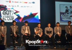 GOT7 at 'GOT7 1st Fan Meeting in Kuala Lumpur' Press Conference - March 21, 2015 [PHOTOS]