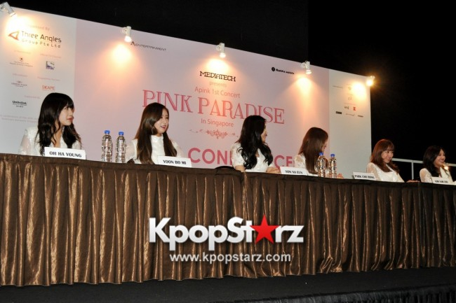 Apink Meets Singapore Media, Happy And Excited For Their First Apink Pink Paradise in Singapore [PHOTOS]key=>10 count17