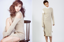 A Pink Eunji Cosmopolitan January 2015 Issue Pictures Low Classic Knit Dress
