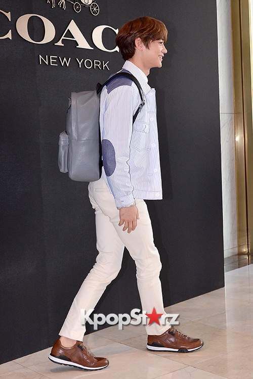 SHINee's Minho at the Opening Ceremony of COACH Flagship Store in Seoulkey=>6 count16