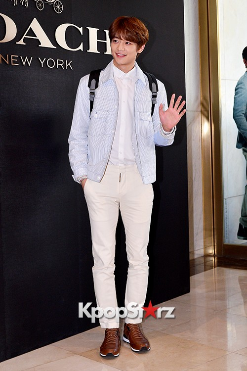 SHINee's Minho at the Opening Ceremony of COACH Flagship Store in Seoulkey=>8 count16