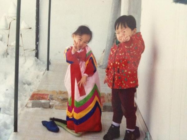 Wonder Girls Sun Posts a Baby Picture of Her and Her Younger Brotherkey=>0 count1