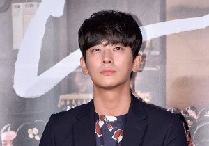 Ju Ji Hoon at a Press Conference of Upcoming Film 'Flatterer'