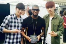 Usher with Hyuk and Hongbin