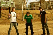 The skate punk band The Strikers, seen here not skating.