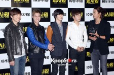 2PM's Junho, Taecyeon & MBLAQ's Seungho, Thunder, G.O, at VIP Premiere of 'A Company Man'