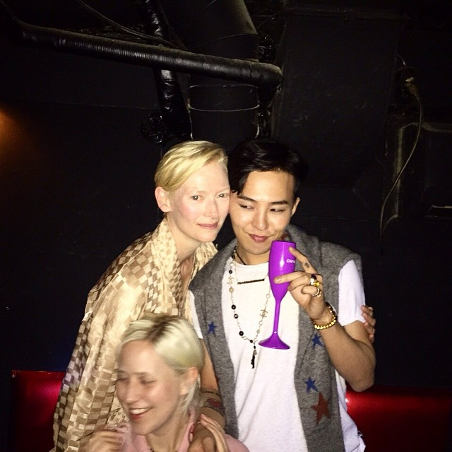G-Dragon, Tilda Swinton Seen At Chanel After Party Together