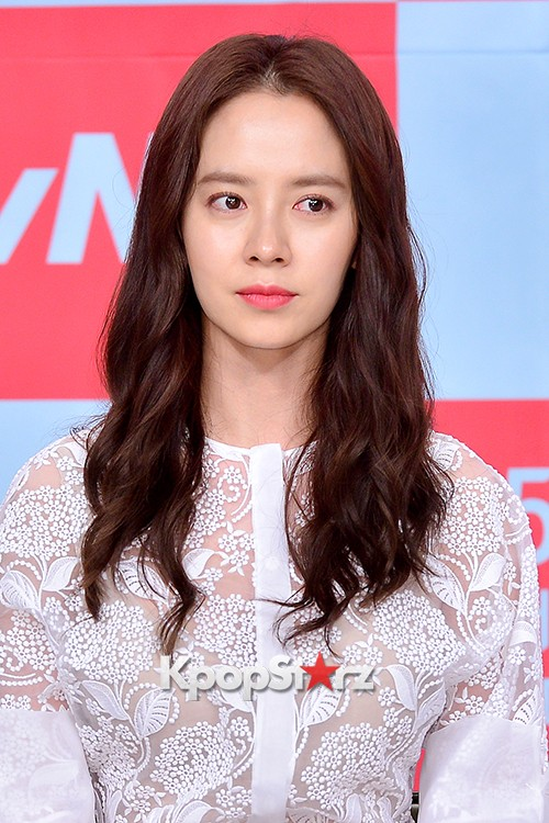 Song Ji Hyo at a Press Conference of tvN Drama 'Ex-Girlfriend Club'key=>18 count20