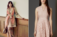 Kang-So-Ra-Heren-March-2015-Issue-Pictures-Burberry-Fitted-Lace-Dress