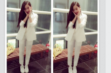f(x) Victoria shows off a summery all-white look.