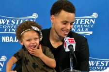 Steph Curry's Daughter Adorably Steals The Show During Interview