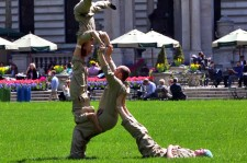 Groundskeepers Turn Into Acrobats In Manhattan Park