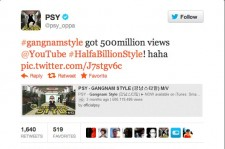 Psy's 'Gangnam Style' Reaches 500 Million Views on YouTube