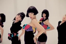 screen shot from T-ara's music video for their 2009 single
