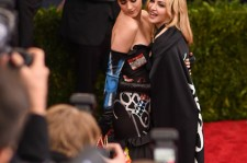 Madonna and Katy Perry on the red carpet of the 2015 Met Gala. Perry is one of the stars featured in Madonna's new music video.