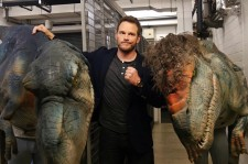 Chris Pratt Gets Pranked By Dinosaur
