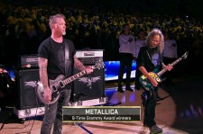 Metallica Performs U.S. National Anthem Before NBA Finals