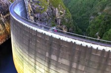 World Record Basketball Shot From 415 Feet High Dam