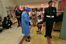 Child Gets Hit In The Face When Soldier Salutes The Queen