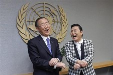 Psy and Ban Ki-Moon Praise Each Other