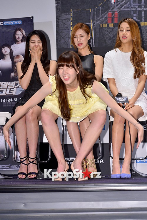 GFRIEND's Yerinn at a Press Conference of MBC Every1 'Her Secret Weapon'key=>11 count12