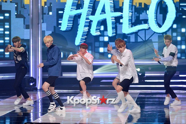 HALO [While You're Sleeping] at MBC Music Show Championkey=>1 count11