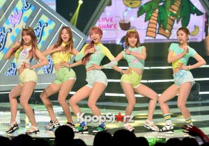 MINX [Love Shake] at MBC Music Show Champion - Jul 8, 2015