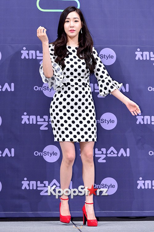 Girls' Generation[SNSD] Tiffany at a Press Conference of OnStyle Channel SNSD key=>3 count27