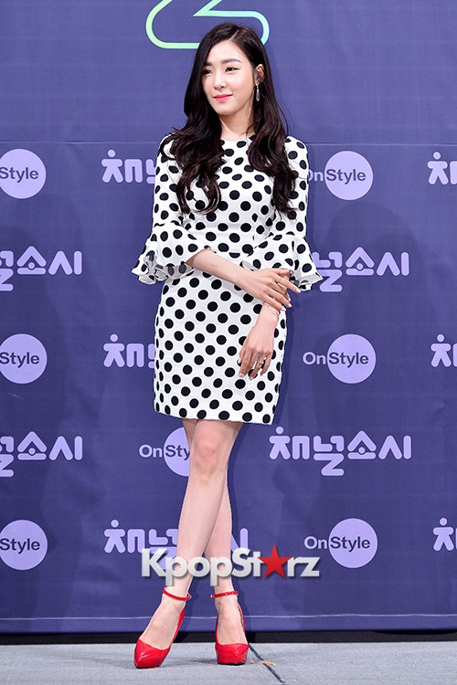 Girls' Generation[SNSD] Tiffany at a Press Conference of OnStyle Channel SNSD key=>10 count27