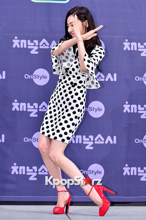 Girls' Generation[SNSD] Tiffany at a Press Conference of OnStyle Channel SNSD key=>13 count27