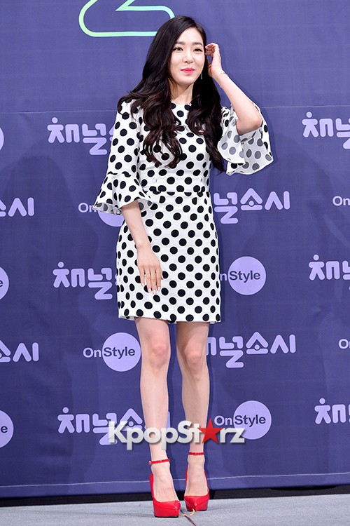 Girls' Generation[SNSD] Tiffany at a Press Conference of OnStyle Channel SNSD key=>15 count27