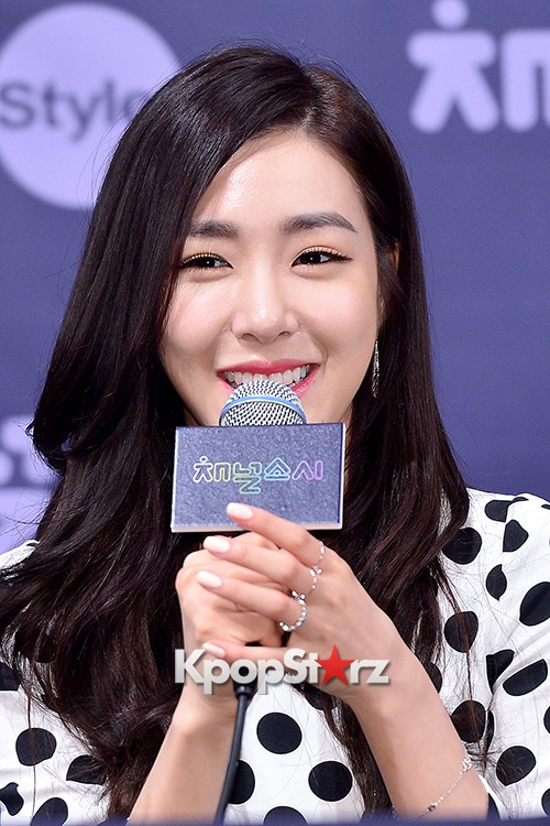 Girls' Generation[SNSD] Tiffany at a Press Conference of OnStyle Channel SNSD key=>18 count27
