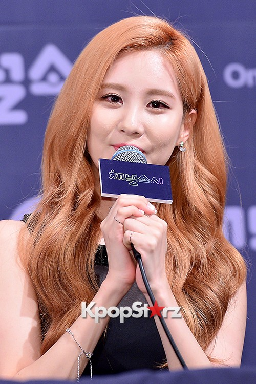 Girls' Generation[SNSD] Seohyun at a Press Conference of OnStyle Channel SNSD key=>15 count23