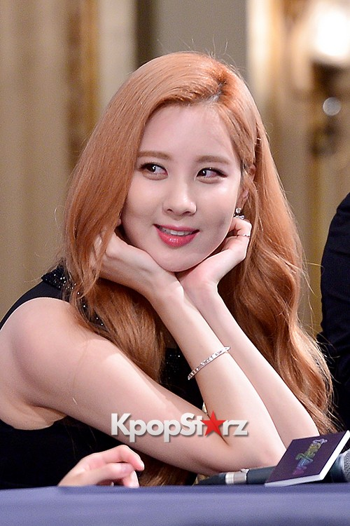 Girls' Generation[SNSD] Seohyun at a Press Conference of OnStyle Channel SNSD key=>19 count23