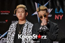 Zion.T and Crush on the red carpet at KCON LA.