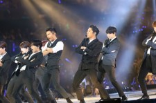 Super Junior during their KCON LA performance.