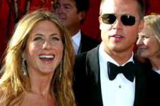 Brad Pitt & Jennifer Aniston at 56th Annual Primetime Emmy Awards (Sept. 19, 2004)
