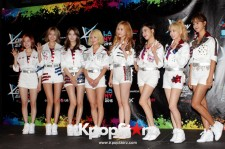 Girls' Generation during the KCON NY press conference.