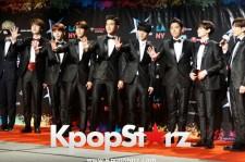 Super Junior at the KCON LA red carpet.