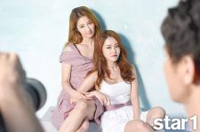 4Minute's Gayoon And Jihyun Star1 Magazine August 2015 Photoshoot