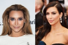Naya Rivera and Kim Kardashian