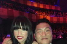 Psy Takes a Picture with Carly Rae Jepson at MTV EMA's
