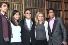 'World Star' Psy Teaches 'Gangnam Style' at Oxford Union [VIDEO]