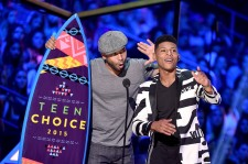 Jussie Smollett and Bryshere Gray at the 2015 Teen Choice Awards.