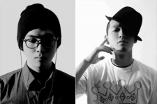 South Korean hip-hop artists Mad Clown (left) and B-Free