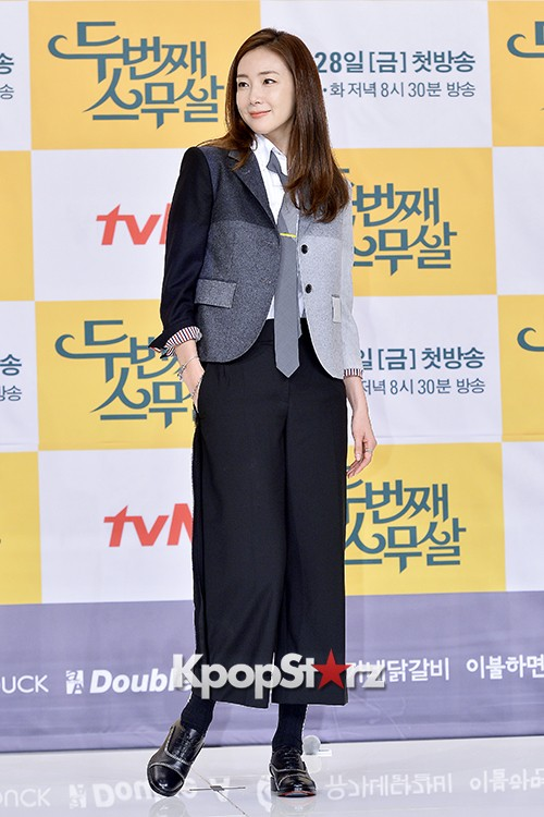 Choi Ji Woo at a Press Conference of tvN Drama '20 Years Old Again'key=>16 count24